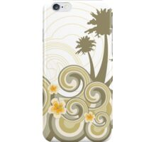 Tropical Beach Waves & Yellow Hibiscus iPhone Case/Skin