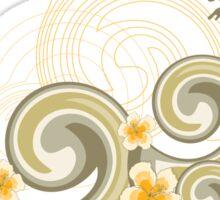 Tropical Beach Waves & Yellow Hibiscus Sticker