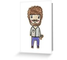 bob ross watercolor doodle Greeting Card