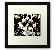 Layered Inkblot Framed Print