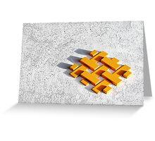 Bankers blocks. Greeting Card