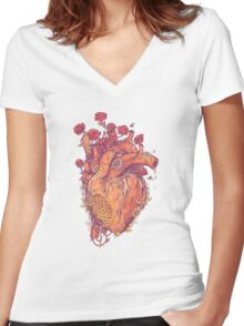 Sweet Heart Women's Fitted V-Neck T-Shirt