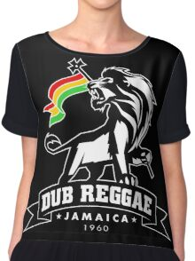 Dub Reggae Jamaica - Black Edition Chiffon Top