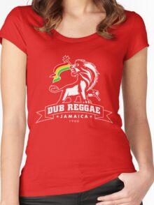 Dub Reggae Jamaica - Black Edition Women's Fitted Scoop T-Shirt