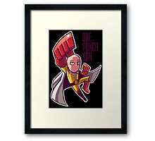 <ONE PUNCH MAN> One Punch Man Cartoon Style Framed Print