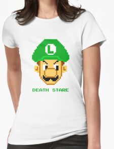 Luigi Death Stare Womens Fitted T-Shirt