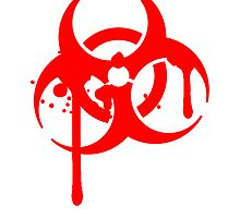 Biohazard blood logo symbol splashes by Style-O-Mat