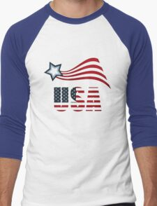 Tee t-shirt, 4th July Us Independence Day!!!!! Men's Baseball ¾ T-Shirt
