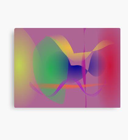 Purple Gray Unique Abstract  Canvas Print