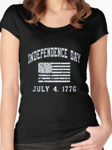 Tee t-shirt, 4th July Us Independence Day!!!!! Women's Fitted Scoop T-Shirt