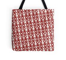 Chinese Wedding Simple Double Happiness Symbol Pattern Tilt Tote Bag