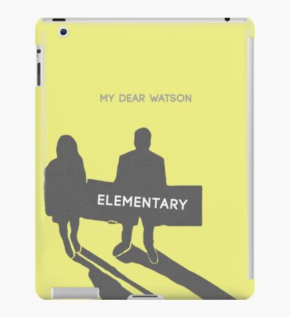 Elementary (Joan & Sherlock) Minimalist iPad Case/Skin
