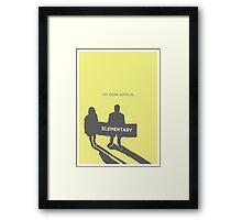 Elementary (Joan & Sherlock) Minimalist Framed Print