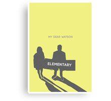 Elementary (Joan & Sherlock) Minimalist Canvas Print