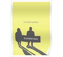 Elementary (Joan & Sherlock) Minimalist Poster
