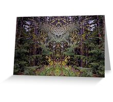 Forest Symmetry Greeting Card