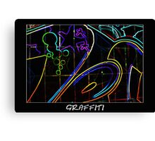 Graffiti 10 Labeled Canvas Print