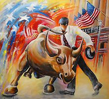 Taking On The Wall Street Bull by Goodaboom