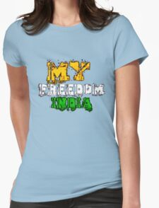 Tee t-shirt, 15th August- India Independence Day!!!! Womens Fitted T-Shirt