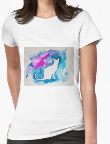 Kitty in blue  Womens Fitted T-Shirt