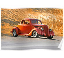 1936 Ford 5-Window Coupe Poster