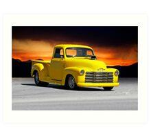 1953 Chevrolet Custom Pick Up 1 Art Print