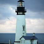 Lighthouse on the Oregon Coast by kkmarais