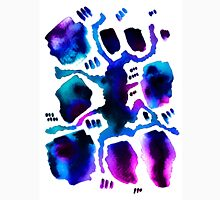 blue and purple abstract watercolor pattern Unisex T-Shirt