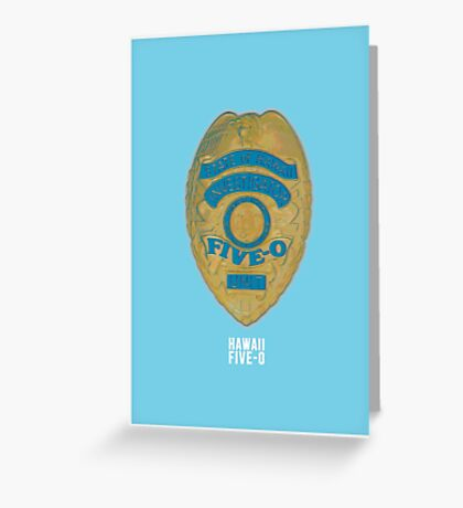 Hawaii Five-0 Minimalist Greeting Card