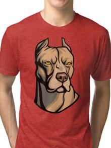 Pit Bull Head Tri-blend T-Shirt