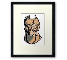 Pit Bull Head Framed Print