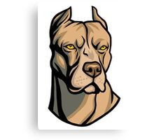 Pit Bull Head Canvas Print