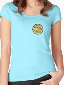 The Bulldog Coffeeshop in Amsterdam - Brown Paper Edition Women's Fitted Scoop T-Shirt
