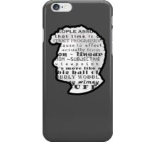 Timey Wimey Doctor Who Quote iPhone Case/Skin
