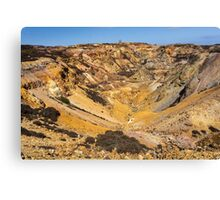 Parys Mountain on the Isle of Anglesey in North Wales Canvas Print