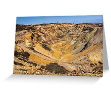Parys Mountain on the Isle of Anglesey in North Wales Greeting Card
