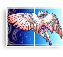 Pink winged angel - Coloured Canvas Print
