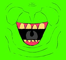 Slimer Pillow & Tote by clearspace80