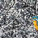 Oil Painting of a Kingfisher by Paul Fleet