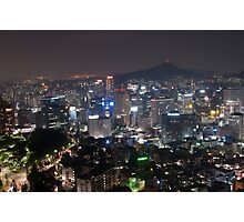 Night Shot of Seoul Photographic Print