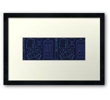 Dr Who Print Pattern  Framed Print