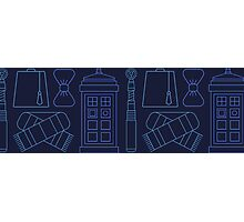 Dr Who Print Pattern  Photographic Print