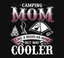 Camping MOM like a regular MOM but way cooler Womens Fitted T-Shirt
