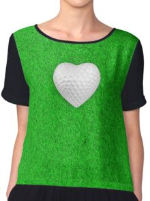 Golf ball heart Chiffon Top
