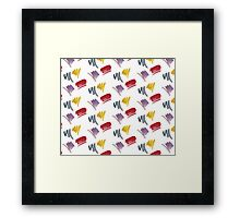 brush doodle small pattern  Framed Print