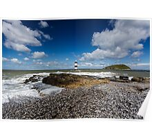 Trwyn Du Lighthouse on the Isle of Anglesey Poster