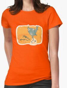 Boo.. Womens Fitted T-Shirt
