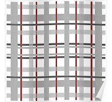 checked fabric pattern  Poster