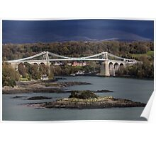 Menai Suspension Bridge, Anglesey Poster