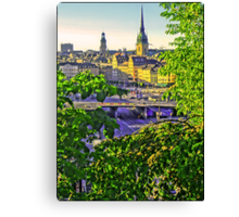 A peek of the Old Town, Stockholm. Canvas Print